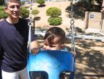 Memorial Park, Sunnyvale, CA: Ilk kez salincaga biniyoruz