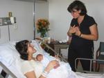 Eray Kayi ve Elda'yi ziyarette (Elda annesinin kucaginda)