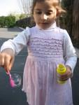 Arka bahçede balon