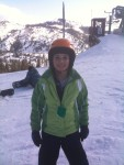 Duru's first day of skiing... ever!