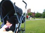 Memorial Day, Boston Common. Duru watching other babies playing in the field.