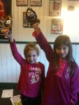 Marika and Duru with their AYSO trophies