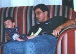 With Emre, at Muradoglus', Boston, MA, 1996.